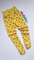Bee leggings with optional bow cuffs [organic] - made to order