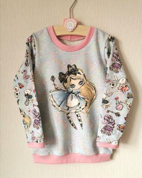 Alice in Wonderland sweatshirt - made to order
