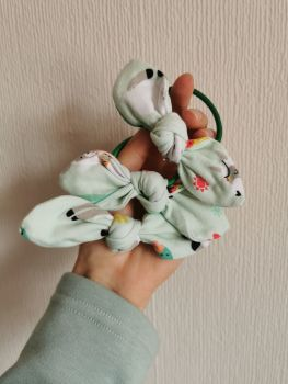 Hair tie - mint llama - in stock