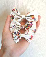Rainbow reindeer/snowflake hair bow - mini, midi or large size - in stock
