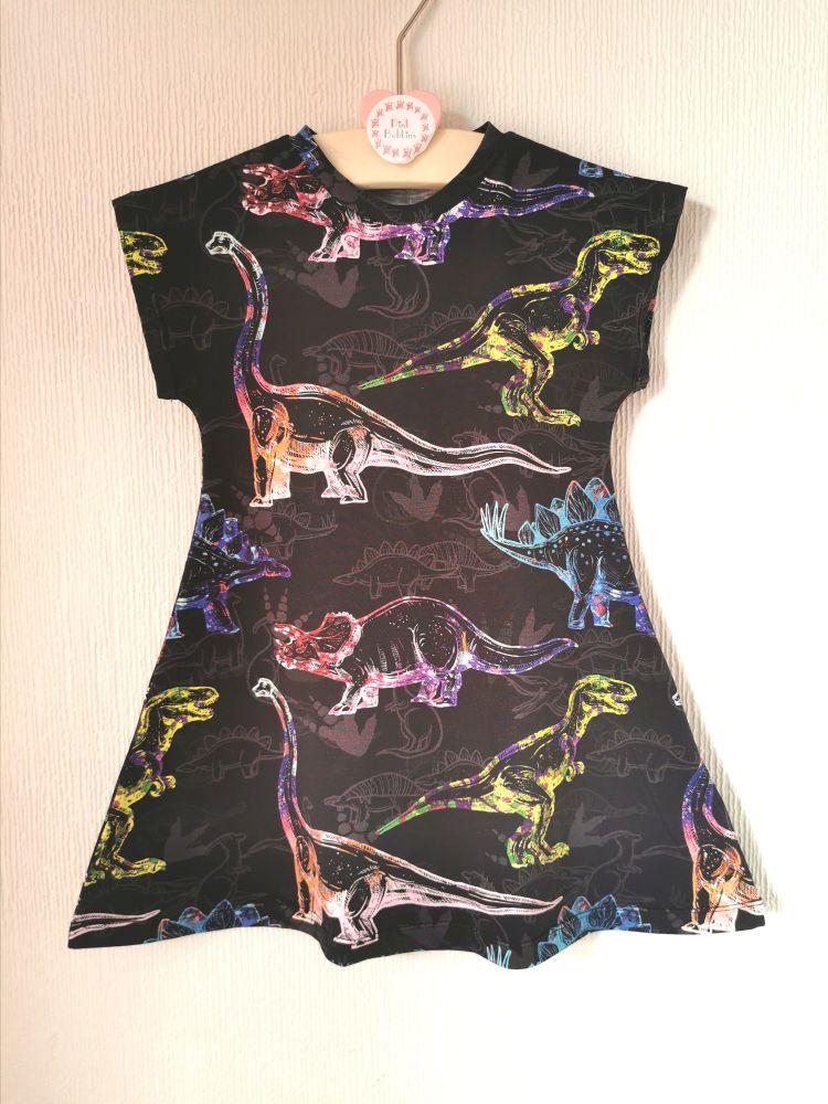 DInosaur comfy dress - made to order
