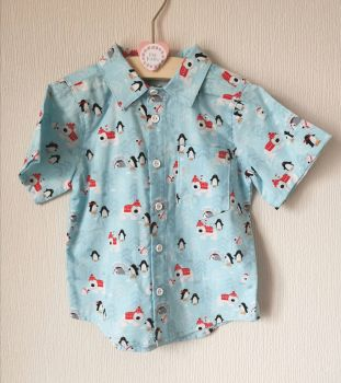 Penguin & polar bear classic shirt - made to order
