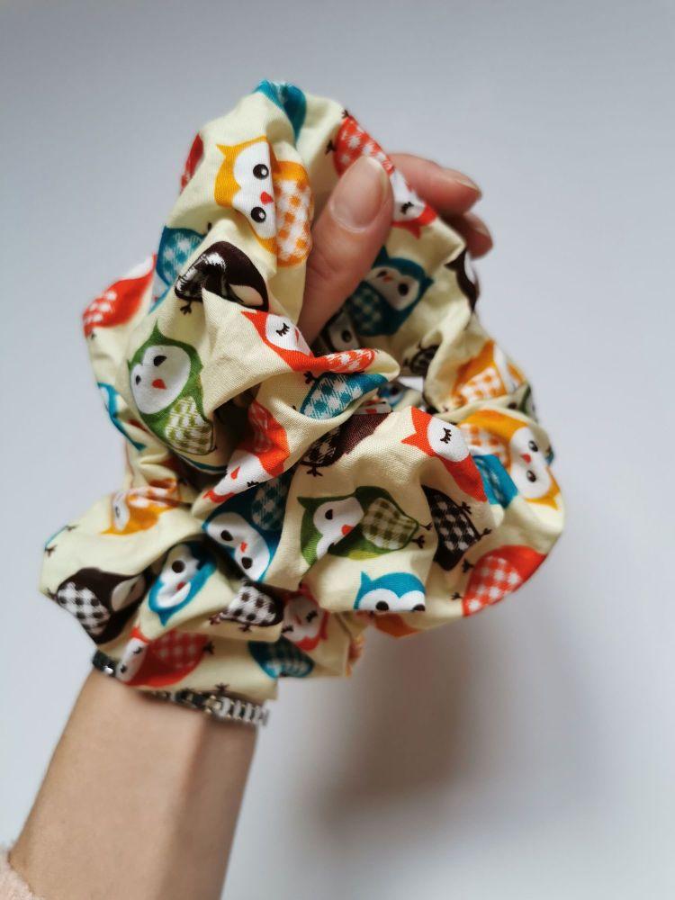 Owl scrunchie - in stock *LAST ONES*