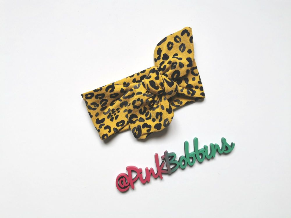 Leopard stretchy headband *LAST ONE* 2-3 - in stock