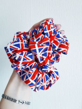 Union Jack scrunchie - made to order