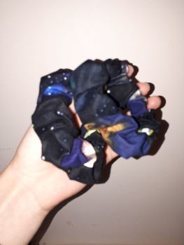 Space scrunchie - made to order