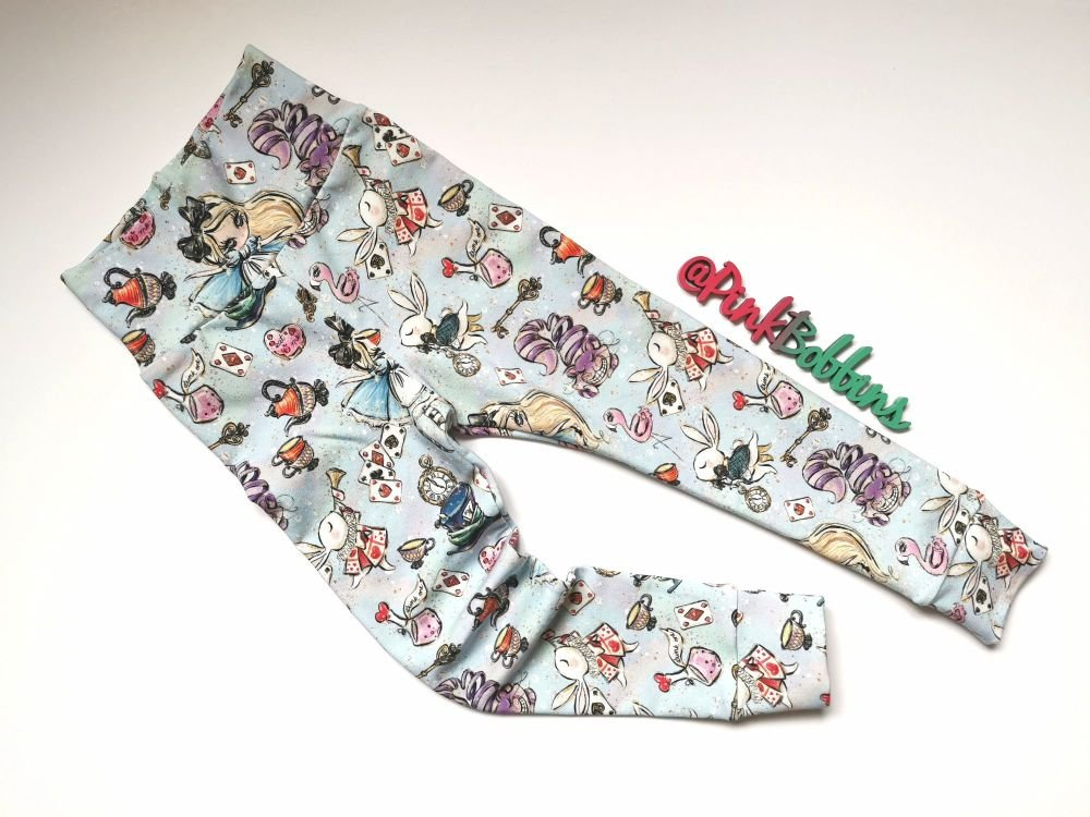 Alice leggings with optional bow cuffs - made to order