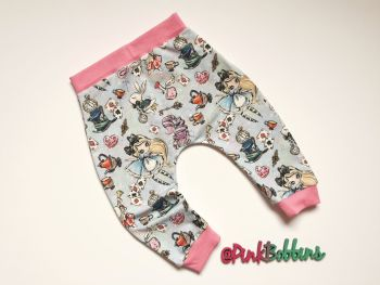 Alice in Wonderland harem joggers - made to order