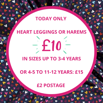 *TENNER TUESDAY* heart harems (4-5 to 11-12 years) - made to order