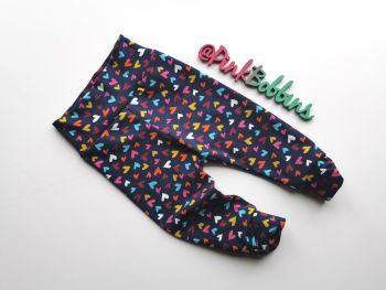 Heart leggings with optional bow cuffs - made to order