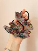 Hair tie - rainbow zebra - made to order