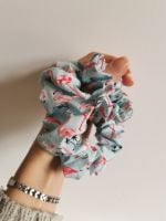 Flamingo scrunchie - in stock