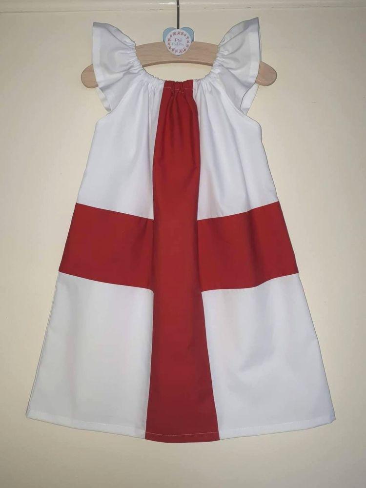 England flag angel sleeve dress - made to order