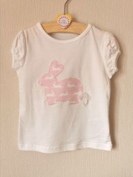 Bunny top - pink, with fluffy tail - in stock
