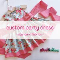 Custom party dress (standard fabrics)