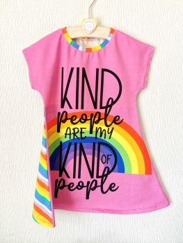 Kind people comfy dress (pink) - made to order