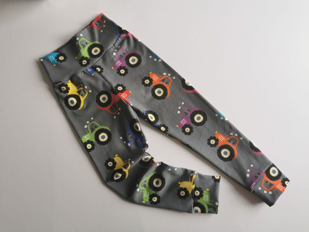 Tractor leggings with optional bow cuffs - made to order