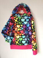 Rainbow heart sweatshirt/hoodie - made to order