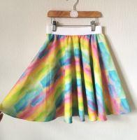 Watercolour circle skirt - made to order