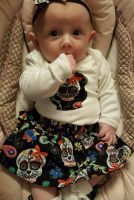 Sugar skull vest - unisex - newborn to 2-3 years