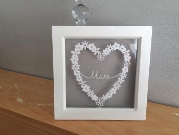 Small Flower Heart Ring - Mum/Mam
