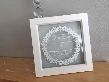 Small Flower Circle Ring - Grandma & Grandad/Nain & Taid