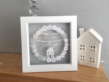 Small Flower Circle Ring - Custom House Name