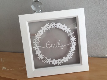Small Flower Circle Ring - Custom Name