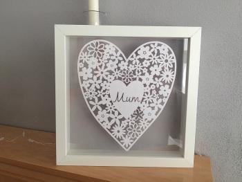 Medium Flower Filled Heart - Mam/Mum
