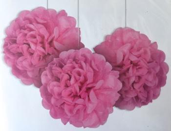 Pink Pom Poms - 3