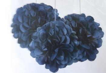 Royal Blue Pom Poms - 3