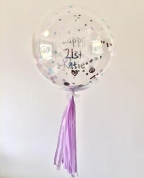 Confetti Bubble Balloon - Boho Mermaid