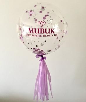 Confetti Bubble Balloon - Branded - P.O.A