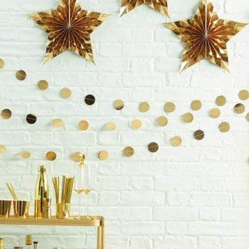 Circle Confetti Bunting - Gold