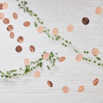 Circle Confetti Bunting - Rose Gold