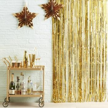Fringe Curtain - Gold