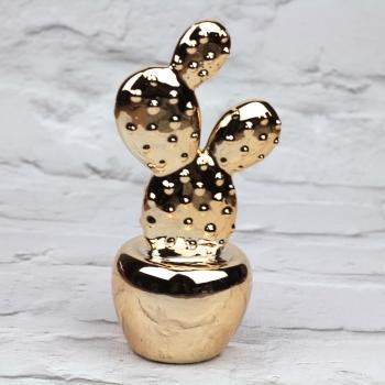 Gold Paddle Cactus - Decoration
