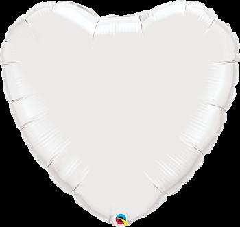 Giant White Heart Balloon