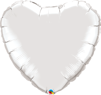 Giant Silver Heart Balloon