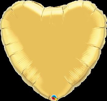 Giant Gold Heart Balloon