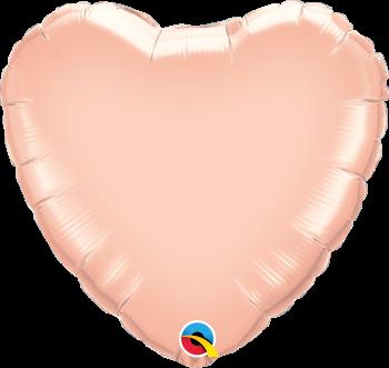 Giant Rose Gold Heart Balloon