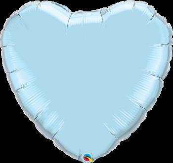 Giant Pearl Blue Heart Balloon