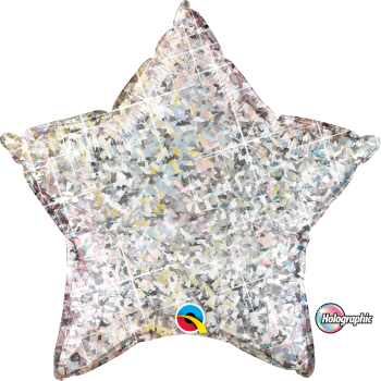 Holographic Silver Star Balloon