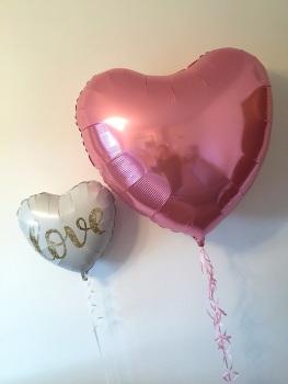 Giant Pearl Pink Heart Balloon