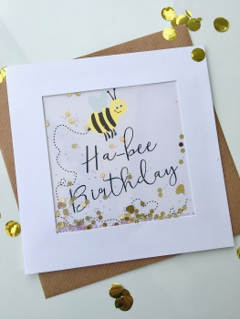 Ha-bee Birthday - Card