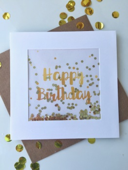 Gold Dot - Happy Birthday - Card