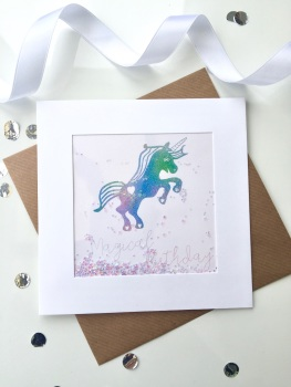 Rainbow Unicorn - Magical Birthday - Card