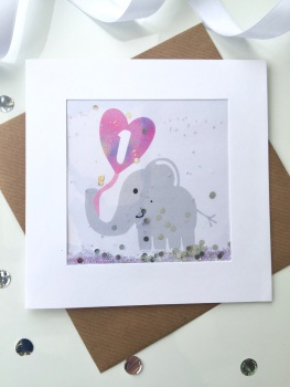 Pink Elephant - One - Card