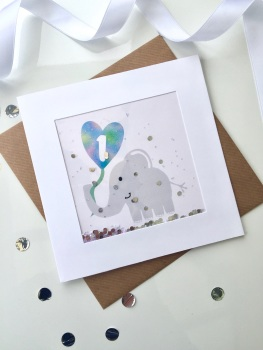 Blue Elephant - One - Card