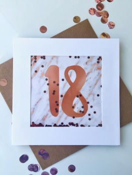 Rose Gold and Marble - 18 - Card